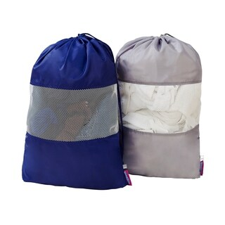 2 Pack Sanitized Laundry Bag with Mesh Window