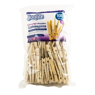 Extra Large Wooden 100 Pack Clothespins