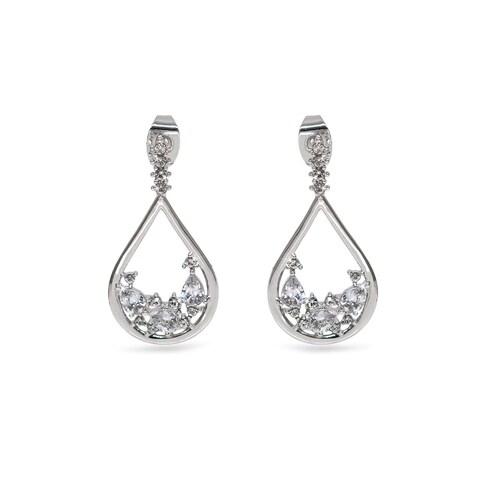 Eternally Haute Teardrop Dangle Earrings with Swarovski Element Crystals