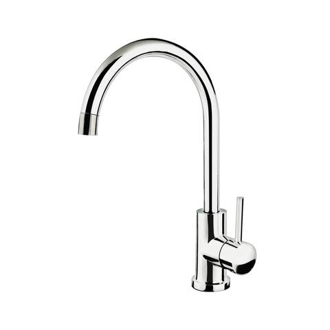 Single Handle Gooseneck Bar Faucet in Chrome