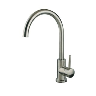 Single Handle Gooseneck Bar Faucet in Brushed Nickel