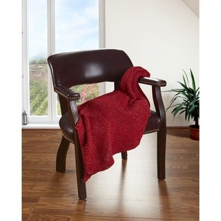 "LR Home Sweater Ruby Red Spark Knitted Throw Blanket ( 50"" x 60"" )"
