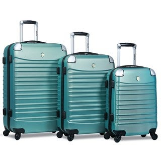 World Traveler 3-piece Hardside Lightweight Spinner Luggage Set
