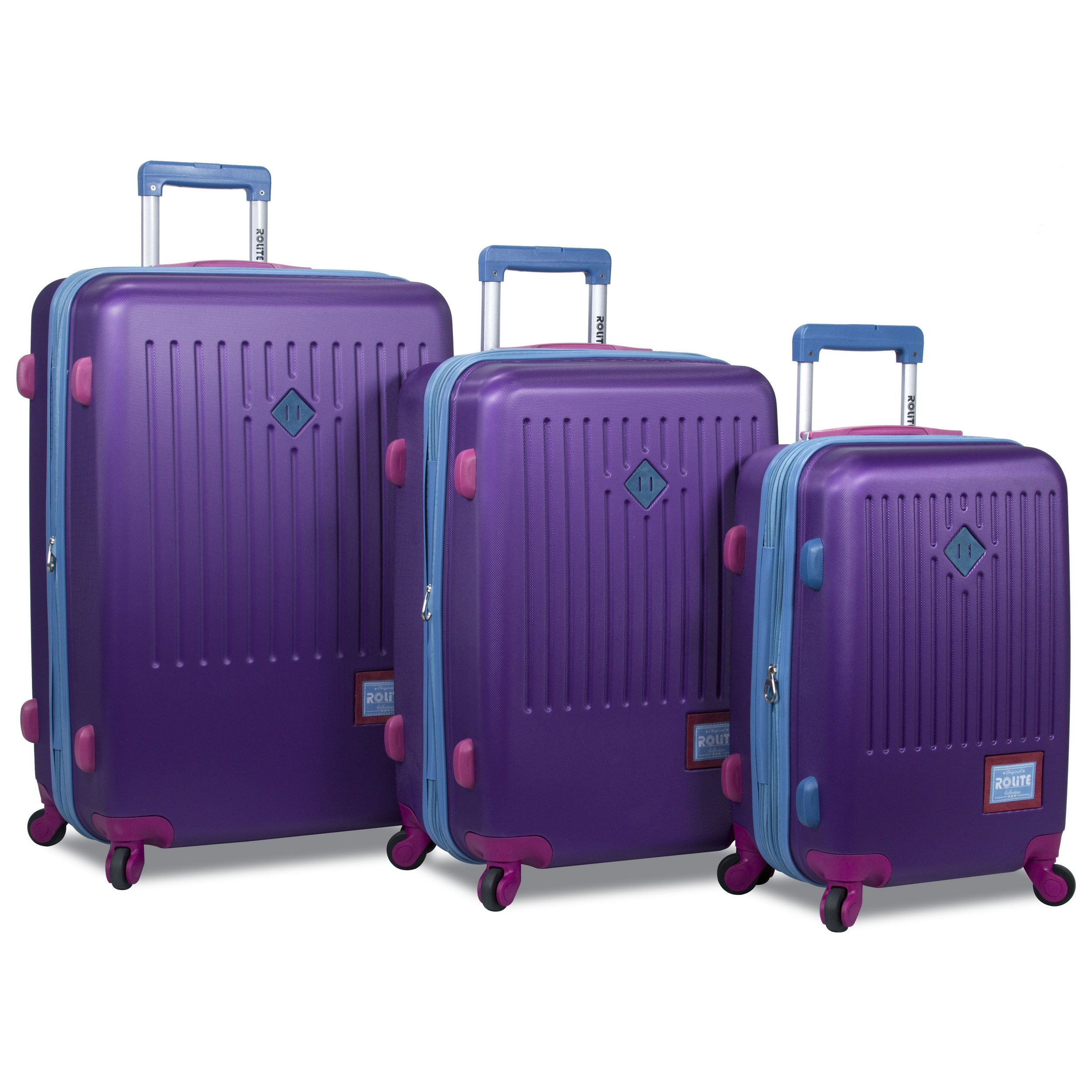 96e727a60ddb Rolite Mod Hardside 3-Piece Expandable Spinner Luggage Set