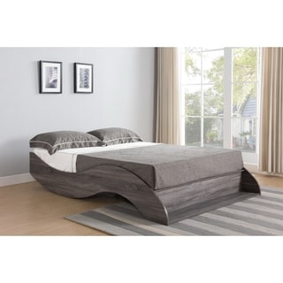 Sage Distressed Grey Platform Bed