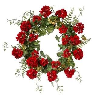 """24"""" Geranium & Berry Wreath"""