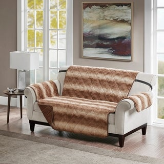 Madison Park Marselle Tip Dyed Long Faux Loveseat Protector (2 options available)
