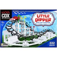 CDX Blocks Brick Construction Little Dipper Roller Coaster Building Set