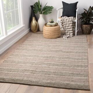 Briggs Indoor/ Outdoor Geometric Taupe/ Green Area Rug (5'X8') - 5' x 8'