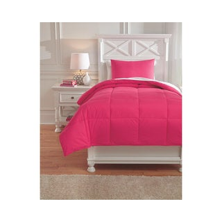Signature Design by Ashley Plainfield Magenta Twin 2-piece Comforter Set