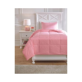 Signature Design by Ashley Plainfield Light Pink Twin 2-piece Comforter Set