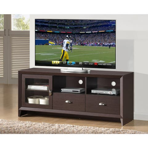 """Urban Designs Modern TV Stand with Storage for TV Up To 60 - Wenge - 59"""""""