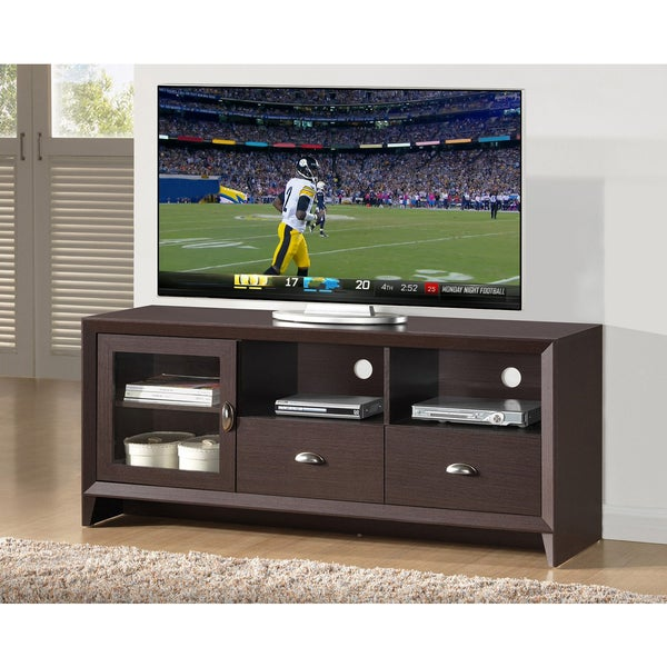 """Urban Designs Modern TV Stand with Storage for TV Up To 60 - Wenge - 59"""". Opens flyout."""