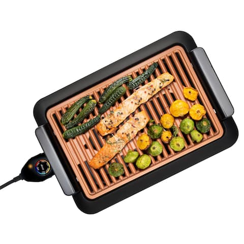 Gotham Steel Large 18x13 Copper Non-stick Smokeless Indoor Grill As Seen On TV