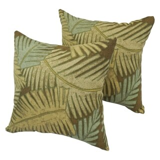 Palm Leaf 17-inch Indoor/Outdoor Throw Pillow (Set of 2)