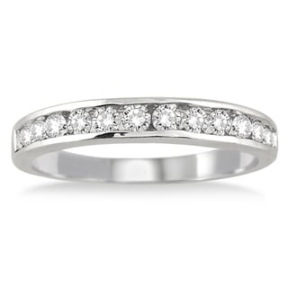 Link to 1/2 Carat TW Channel Set Diamond Band in 10K White Gold Similar Items in Wedding Rings