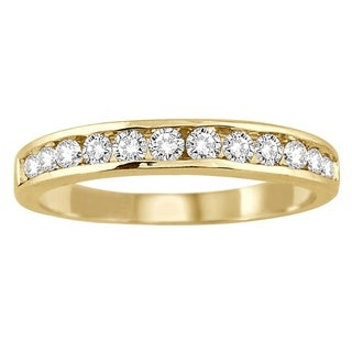 Link to 10k Yellow Gold 1/2ct TDW Channel Set Diamond Band Similar Items in Wedding Rings