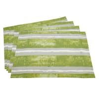 Contrast Stripes Hand Blocked Placemat  (set of 4)