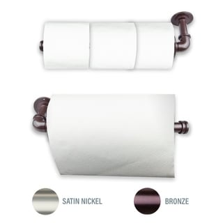 InStyleDesign Industrial Pipe Triple Toilet Paper / Towel Holder