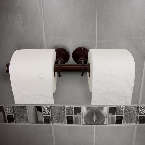 InStyleDesign Industrial Pipe Design Double Toilet Paper/ Towel Holder