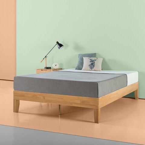Priage 14 inch Natural Wood Platform Bed