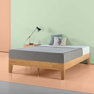 Priage 14 inch Natural Wood Platform Bed