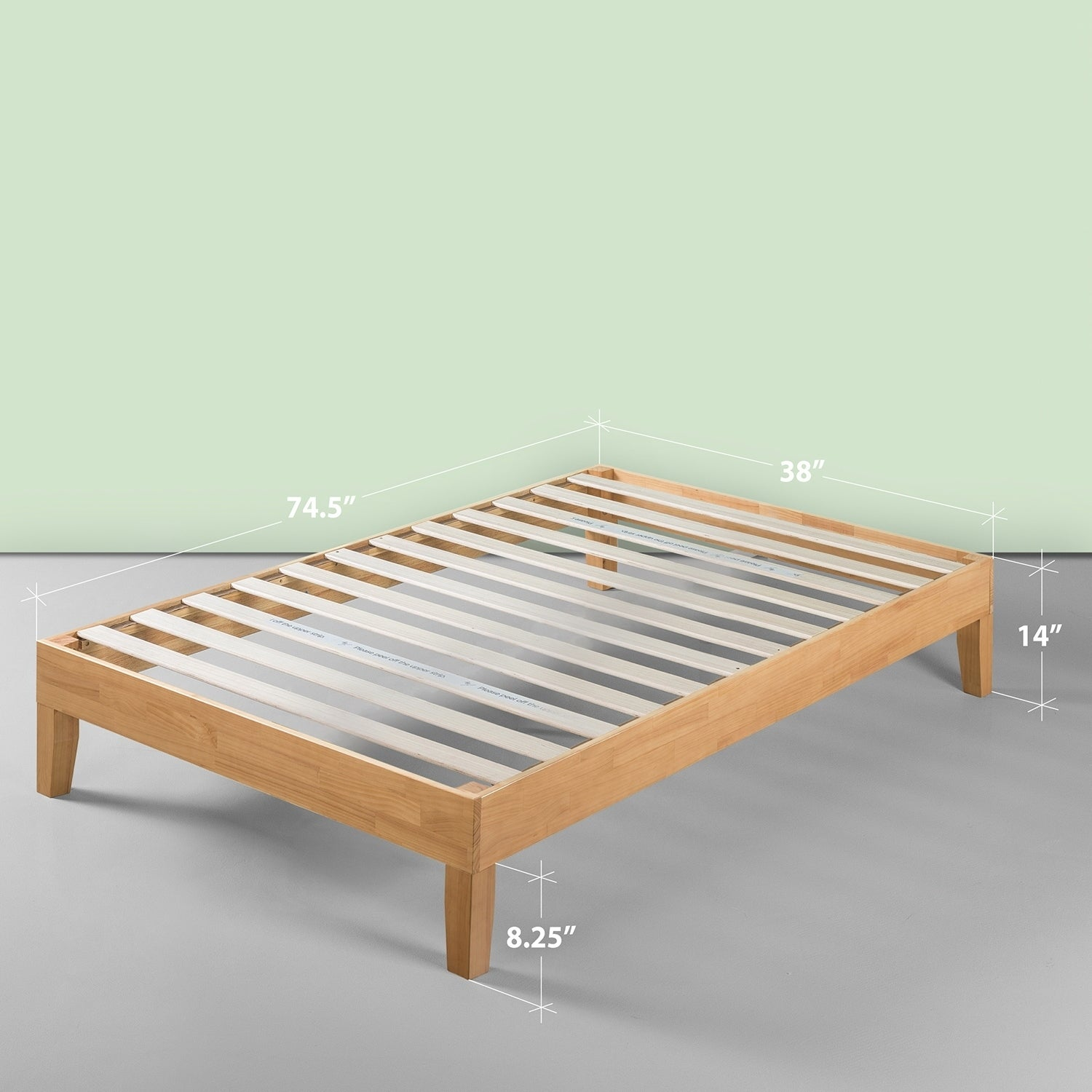 Priage By Zinus Deluxe 14 Inch Wood Platform Bed
