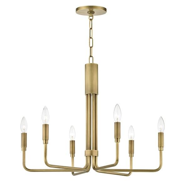 Mitzi by Hudson Valley Brigitte 6-light Aged Brass Pendant