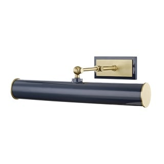 Mitzi by Hudson Valley Holly 2-light Aged Brass Wall Sconce with Navy Accents, Navy Steel