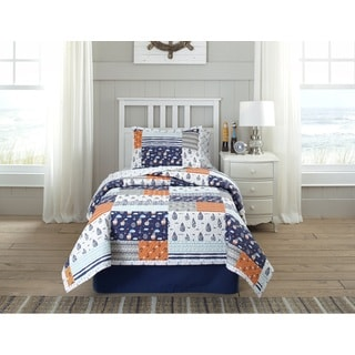 Lullaby Bedding Away At Sea Printed Quilt Set
