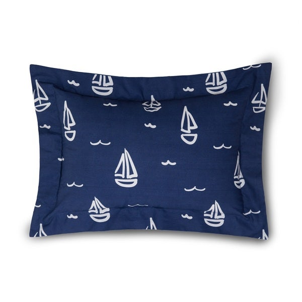 Lullaby Bedding Away at Sea Printed Boudoir Pillow