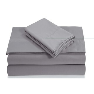 Egyptian Cotton 800 TC Deep Pocket Sheet Set with Luxury-size Flat