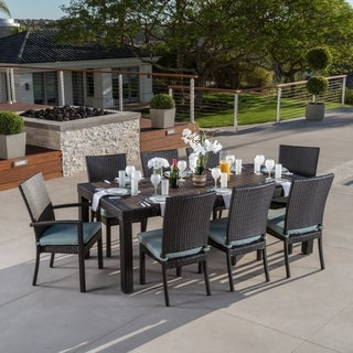 Oliver & James Paul 9-piece Patio Dining Set (Option: bliss blue)