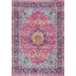 The Gray Barn Peaceful Acres Traditional Persian Vintage Fancy Area Rug (Pink - 2 8 x 8 Runner)