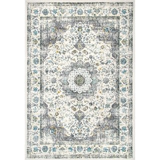 The Gray Barn Peaceful Acres Traditional Persian Vintage Fancy Area Rug (Grey - 10 x 14)