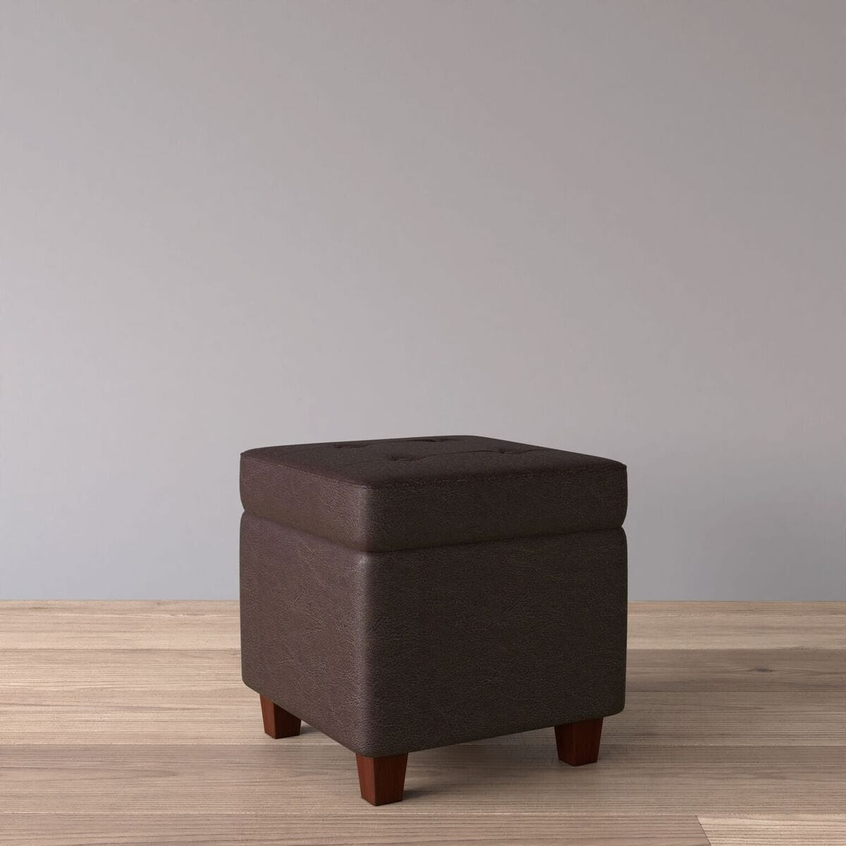Incredible Porch Den Bittern Square Tufted Faux Leather Storage Ottoman Cjindustries Chair Design For Home Cjindustriesco