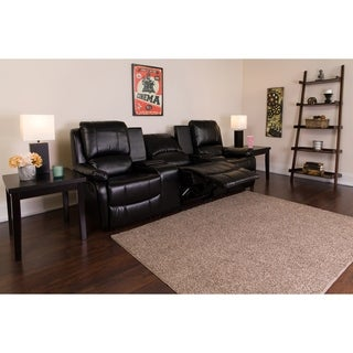 Copper Grove Bobingen 3-seat Black Leather Reclining Seating Unit
