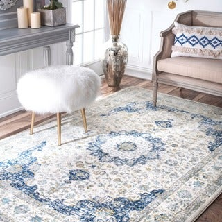 "Maison Rouge Oryan Traditional Persian Blue Area Rug - 6'7"" x 9'"