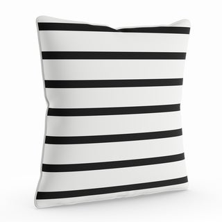 Porch & Den Floyd 18-inch Black and White Striped Throw Pillow Shell