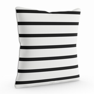 Havenside Home Dataw 18-inch Black and White Striped Throw Pillow Shell