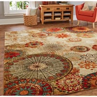 Porch & Den Park Circle Bexley Multicolor Medallion Area Rug - 6' x 9'