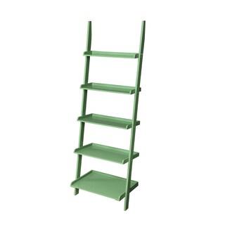 Laurel Creek Charley Wooden Bookshelf Ladder (Option: Green)