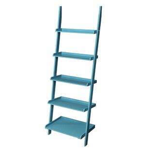Laurel Creek Charley Wooden Bookshelf Ladder (Option: Blue)