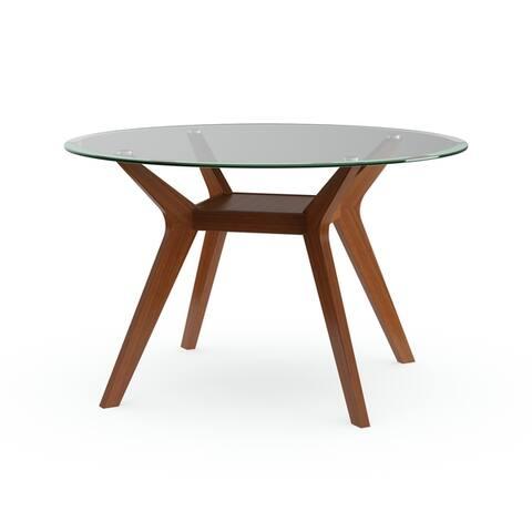 Carson Carrington Videbaek Walnut Dining Table ( BASE ONLY)