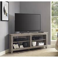 Havenside Home Jacksonville 58-inch Driftwood Corner TV Stand