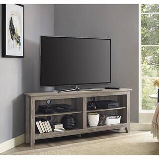 Porch Den Dexter 58 Inch Driftwood Corner Tv Stand