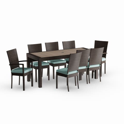 Deco 9pc Dining Set in Spa Blue by RST Brands
