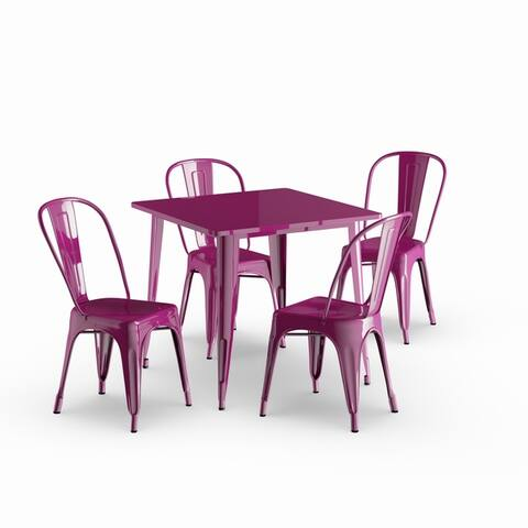 Porch & Den Karalynn Metal 5-piece Table Set