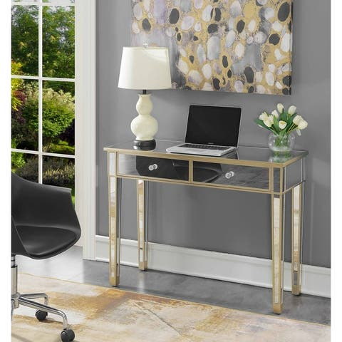 Silver Orchid Talmadge Mirrored Desk Vanity