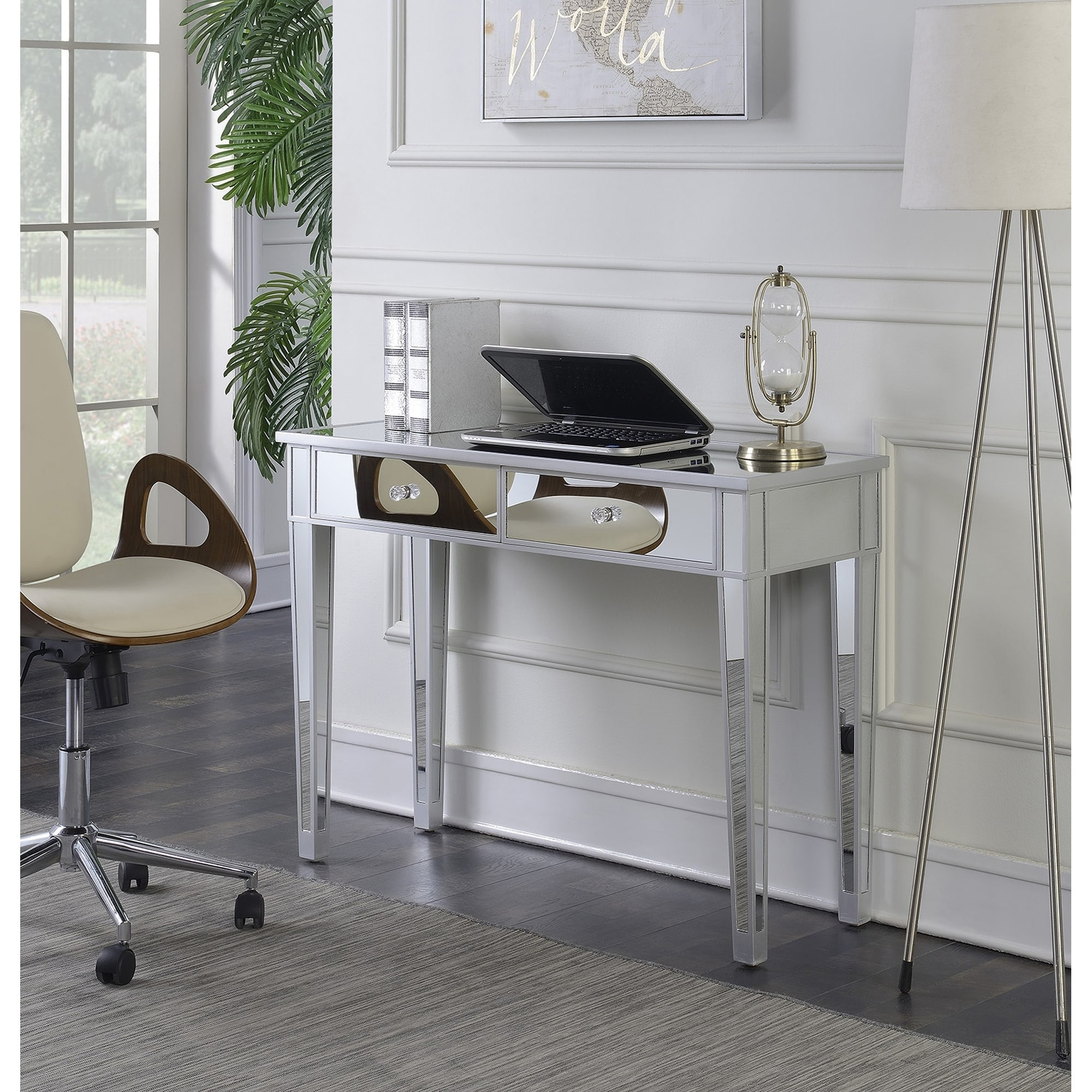 Silver Orchid Talmadge Mirrored